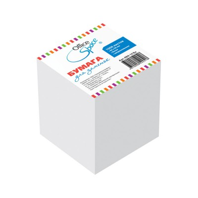 Блок бумаги 9х9х9 бел.
