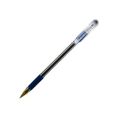 """Ручка шар. """"MC Gold"""" синяя с резиновой насадкой"""