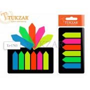 """Закладки-ярлычки пласт 12*43 """"TUKZAR"""" 6 цв."""